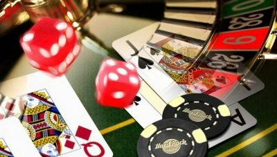Casinos' roulette and dices.